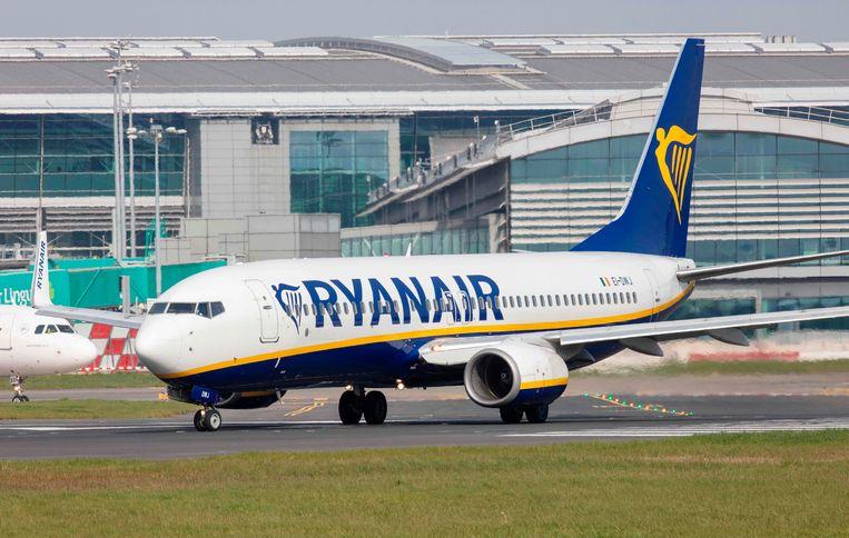 Een toestel van Ryanair in Dublin.