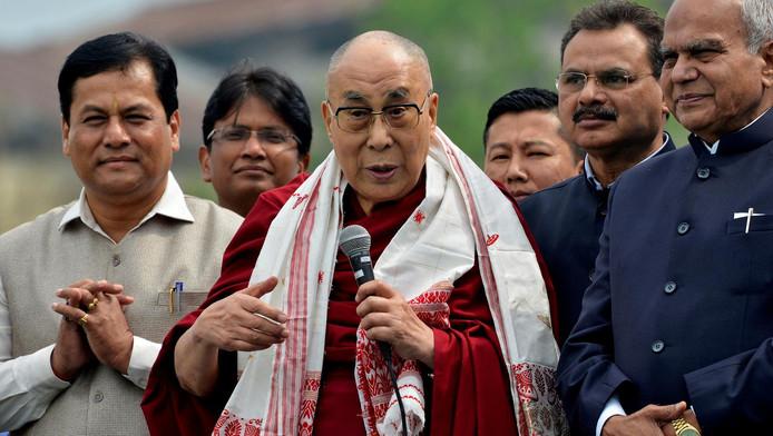 Le dalaï lama en visite en Inde, le 2 avril 2017.