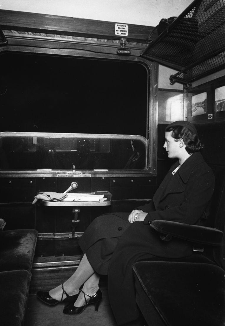 Een reizigster in 1933. Beeld ANP