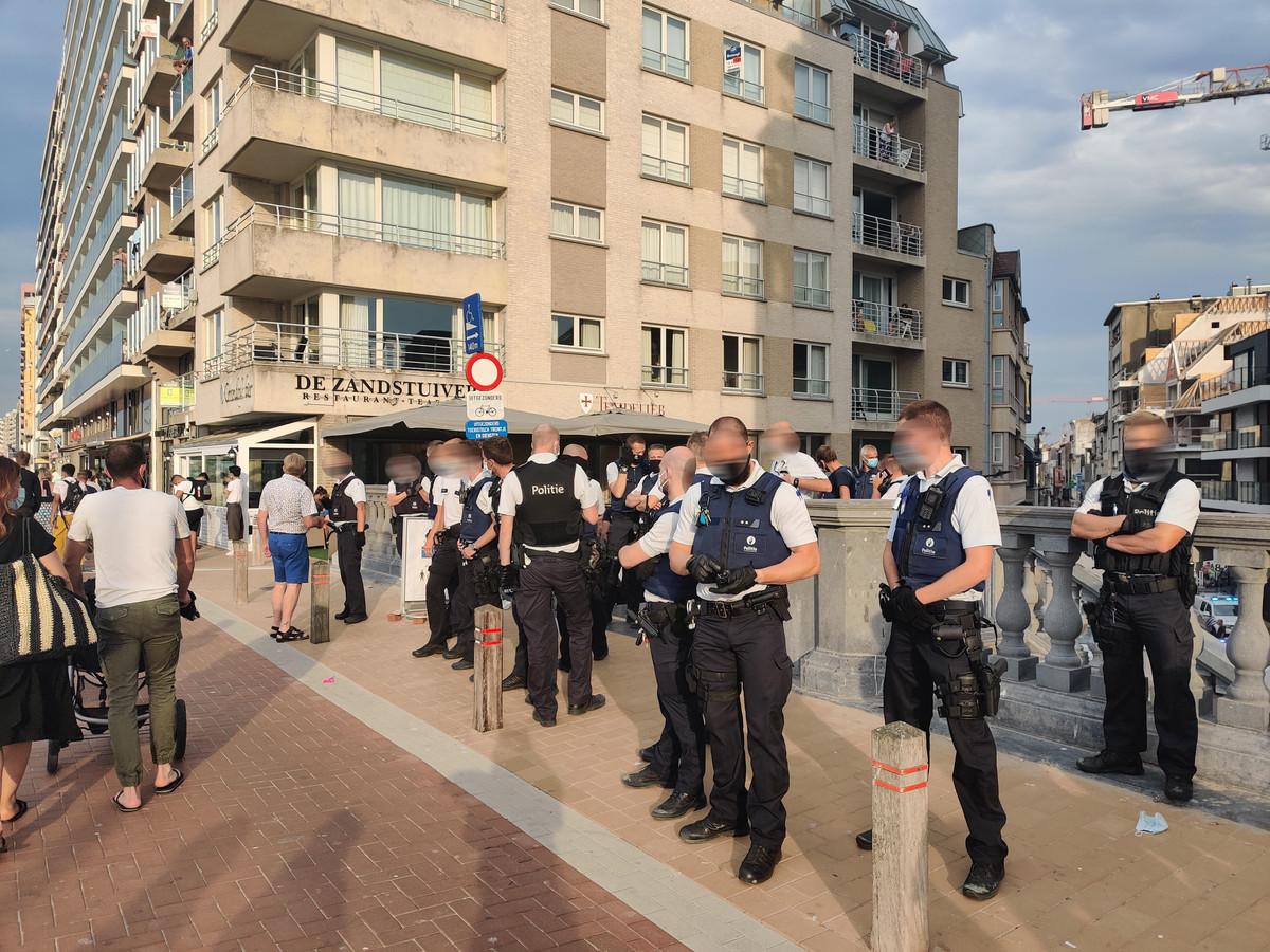 Policiers mobilisés à Blankenberge, en cette journée agitée de samedi
