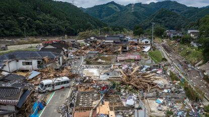Hevige regenval in Japan: 60 doden