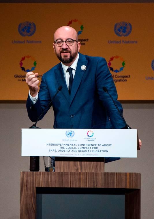 'Mijn land heeft ervoor gekozen aan de juiste kant van de geschiedenis te staan', zei de Belgische premier Michel.