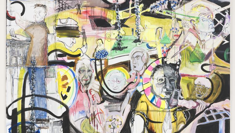 Werk van David Bade gemaakt naar aanleiding van gesprekken in verzorgingstehuis Parc Imstenrade. Beeld .