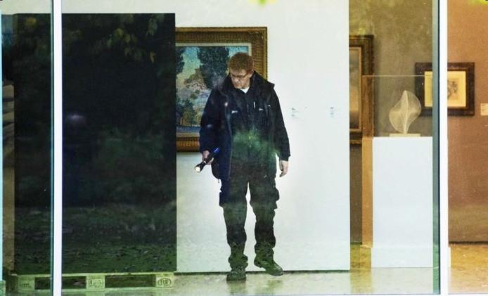 In de Kunsthal wordt onderzoek gedaan naar de schilderijenroof. Foto: ANP