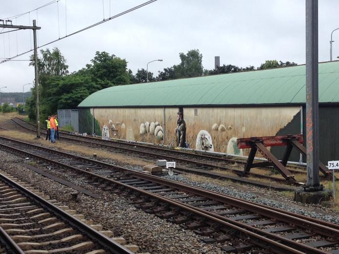 De graffiti op station Ede-Wageningen.
