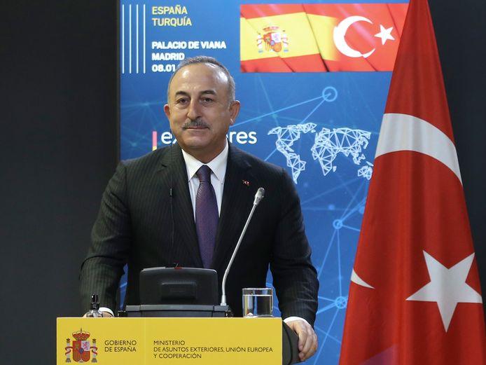 De Turkse minister van Buitenlandse Zaken Mevlüt Cavusoglu