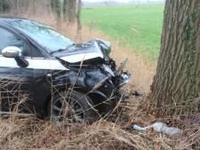Auto raakt van de weg en botst tegen boom in Baak: bestuurder gewond