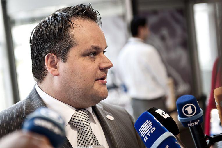 De Nederlandse oud-minister van Financiën Jan Kees de Jager. Foto uit 2012.