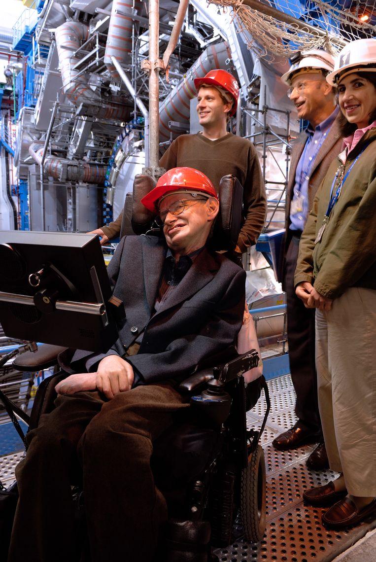 Thomas Hertog samen met Stephen Hawking.