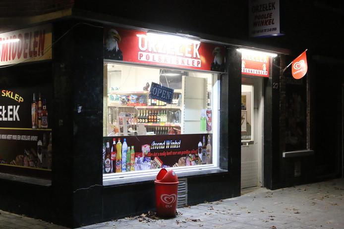De Poolse supermarkt aan de Heelsumstraat werd overvallen.