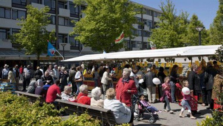 De Markt op het Sierplein in Slotervaart. Foto Floris Lok Beeld
