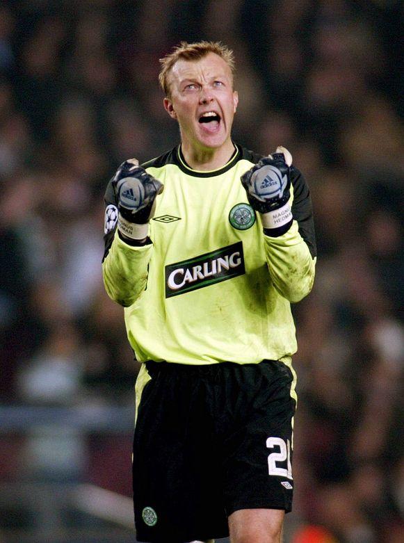 Een archieffoto van Hedman als doelman van Celtic.