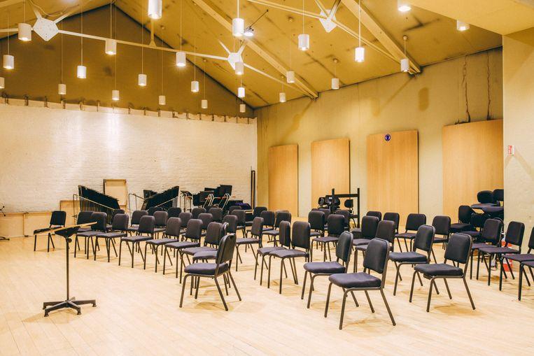 De repetitieruimte voor koor en orkest