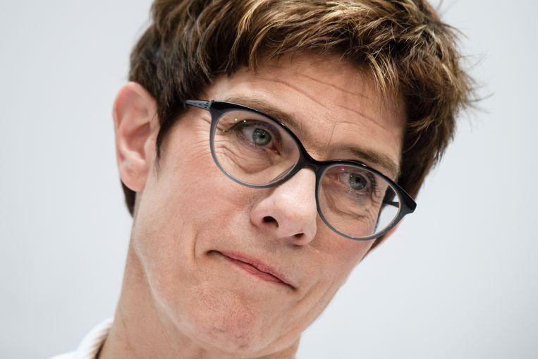 Annegret Kramp-Karrenbauer, de nieuwe minister van Defensie van Duitsland. Beeld EPA