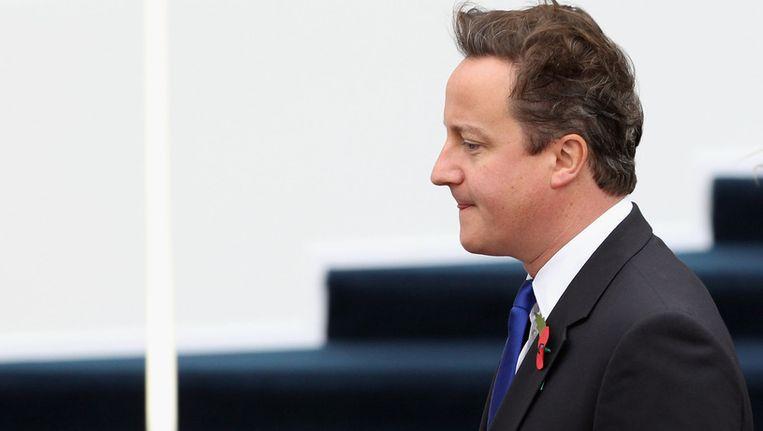 De Britse premier Cameron op de G20-top in Cannes. Beeld getty