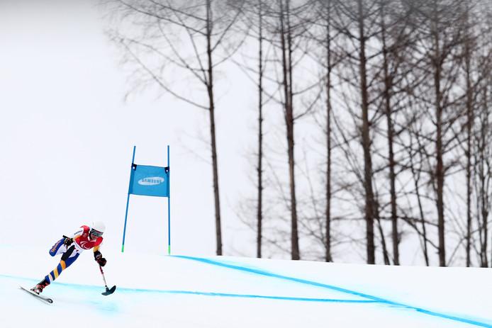 Anna Jochemsen tijdens haar training in het Jeongseon Alpine Centre