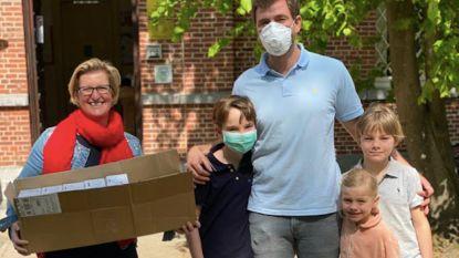 """Ouders bezorgen scholen mondmaskers: """"Het zou mooi zijn mochten ook andere ondernemers dit doen"""""""