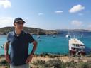 Gert op Malta. ,,Hij genoot van de kleine dingen, samen met zijn gezin.''