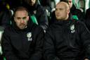 Sjors Ultee is bij Fortuna Sittard hoofdtrainer, mede omdat Kevin Hofland de vereiste papieren nog niet heeft.