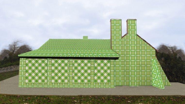 De felgroene villa van Lilly Van der Stokker.