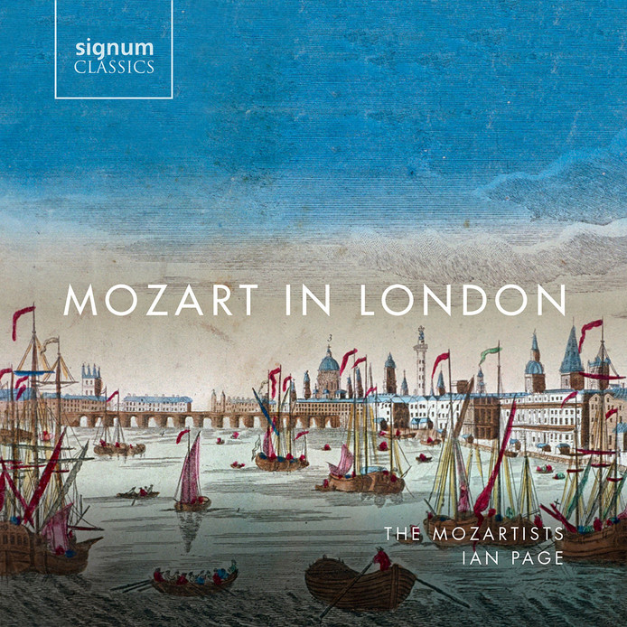 De hoes van Mozart in Londen.