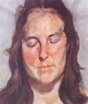 Deze foto verspreidde de politie kort na de roof. De gestolen 'Woman with Eyes Closed' (2002) van de Britse kunstschilder Lucian Freud (1922-2011.