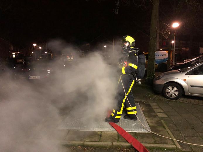Eén van de vele containerbrandjes in Leerdam.