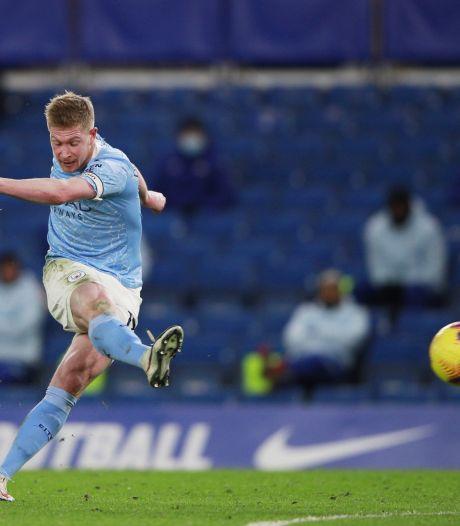Manchester City plonge Chelsea dans la crise, De Bruyne buteur et passeur