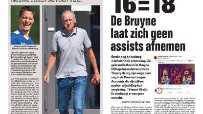 16=18 De Bruyne laat zich geen assists afnemen