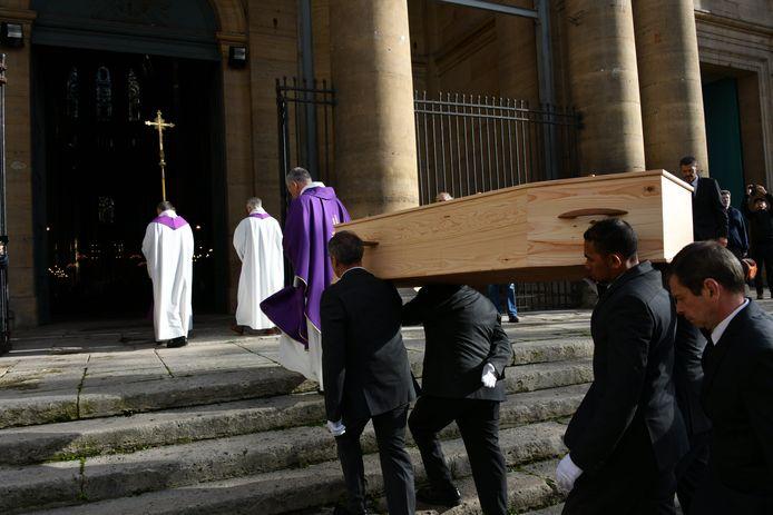 Obsèques de Marie Laforêt en l'église Saint-Eustache à Paris le jeudi 7 novembre.