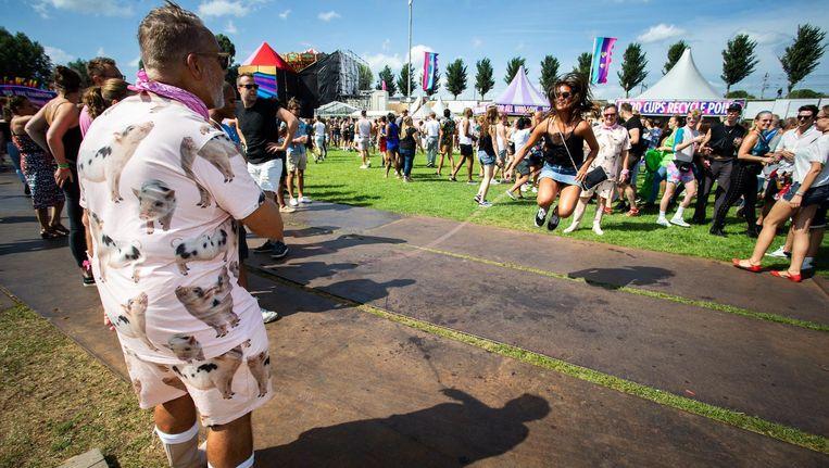 Bezoekers van Milkshake Festival 2018 in het Westerpark. Beeld anp