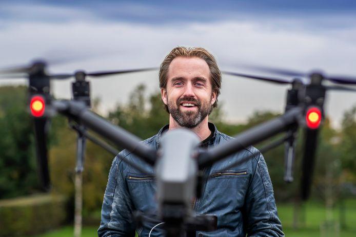 Jelte Keur is professioneel dronevlieger.