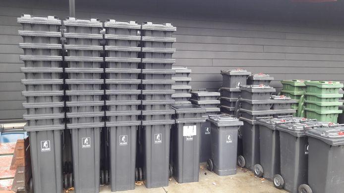 Containers voor restafval.