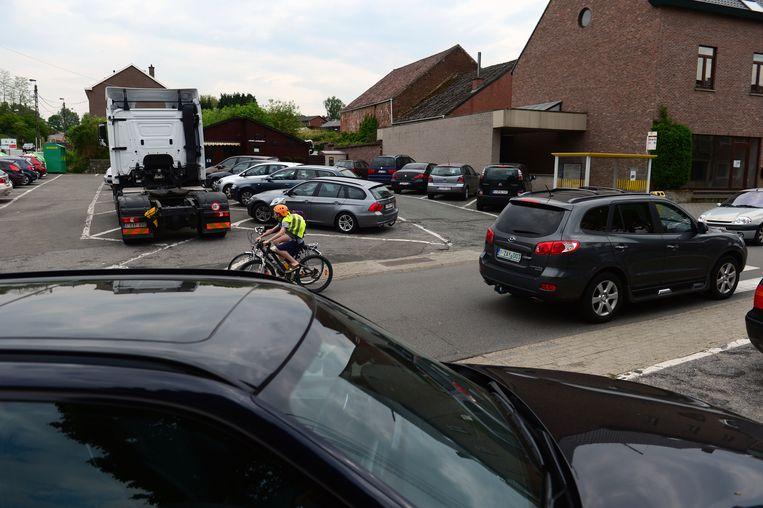 De schoolomgeving in Leefdaal.