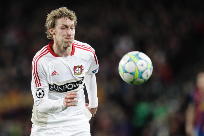 Kießling in het shirt van Leverkusen.