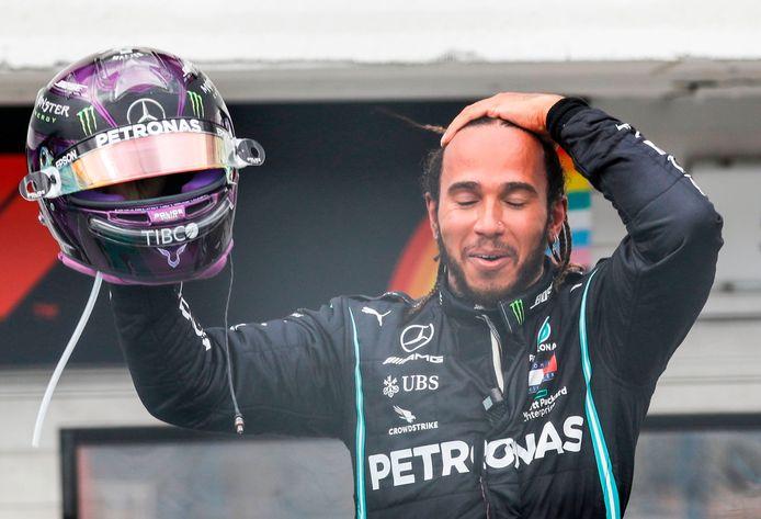 Lewis Hamilton célèbre la victoire, ce 19 juillet