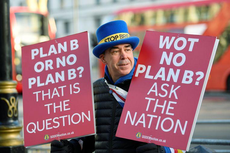 Steve Bray, de Stop Brexit Man.