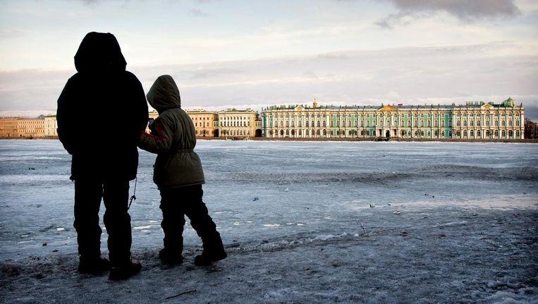 Exterieur van de Hermitage in St Petersburg. Beeld anp