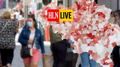 IN KAART. Aantal besmettingen stijgt pijlsnel in sommige provincies: bekijk hier de situatie in uw regio en gemeente