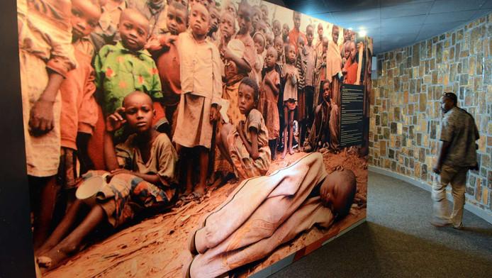 Een herdenkingsplaats voor de genocide in Rwanda, in Nyamata in een katholieke kerk waar duizenden mensen vermoord werden in 1994.