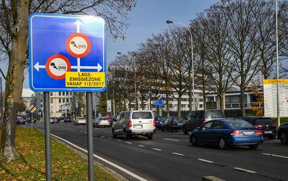 De lage-emissiezone in Antwerpen.