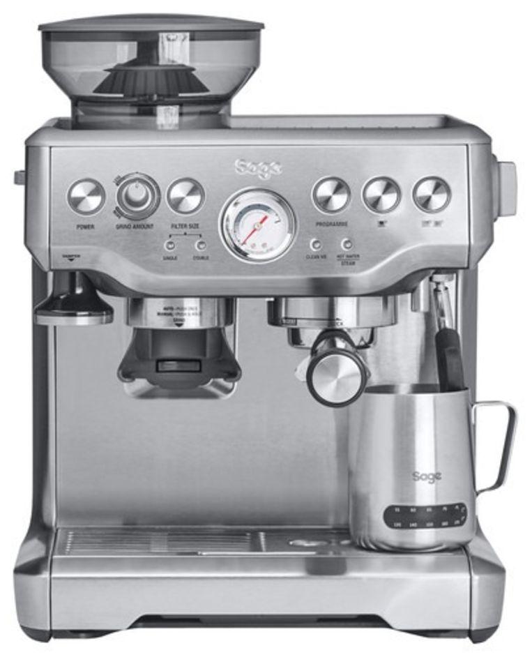 Een espressoapparaat van Sage. Beeld
