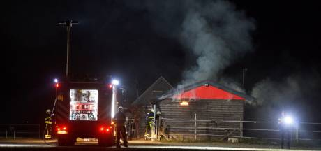 Hooischuur in brand in Kaatsheuvel