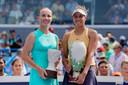 Svetlana Koeznetsova en Madison Keys na de finale.