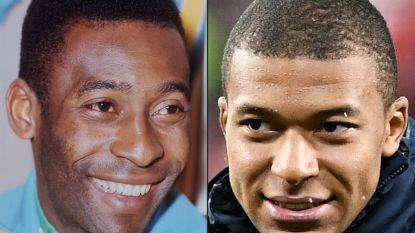 """Pelé: """"Als Mbappé mijn records blijft evenaren, moet ik mijn schoenen weer bovenhalen"""""""