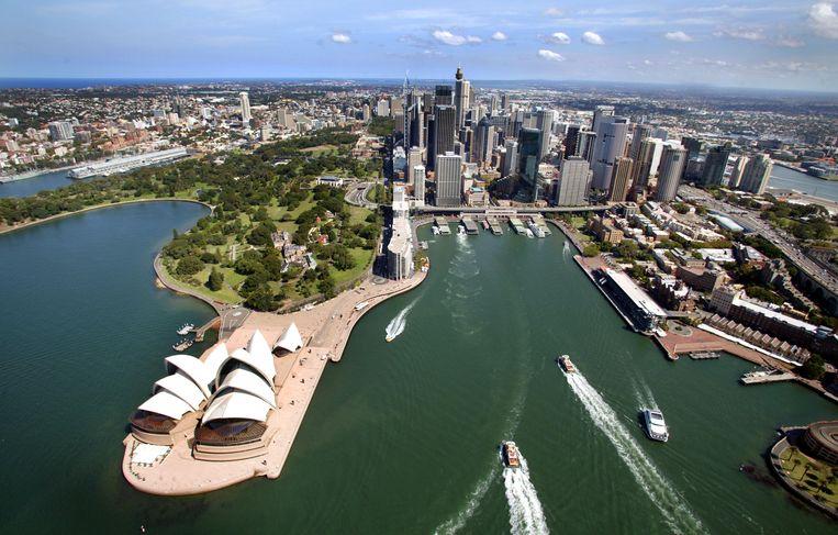 Het Sydney Opera House van boven. Beeld Getty