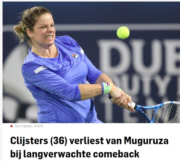 Clijsters in AD