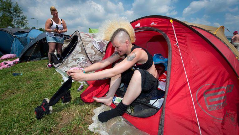 Ook voor Pinkpop zette het bedrijf tenten neer voor medewerkers en bezoekers die zichzelf net even wat meer comfort gunnen. Beeld ANP