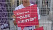 Kevin Borlée en GAIA protesteren tegen gebruik van kooien voor dieren