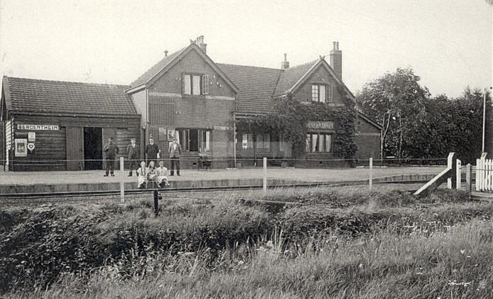 Foto van het oude station in Bergentheim